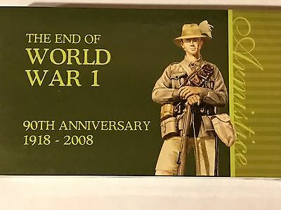 2008 1oz Silver Proof Coin Pair , 90th Anniversary of the end of World War 1
