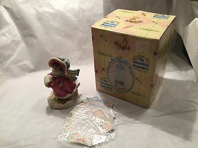 NIB Enesco - My Blushing Bunnies Figurine: Love Will Never Let You Fall
