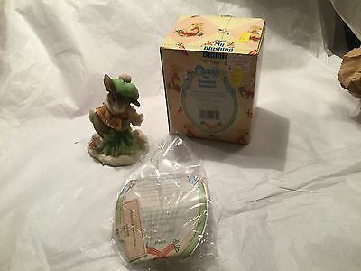 "NIB Enesco My Blushing Bunnies Collectables 1996  ""Wintertime Blessings"""