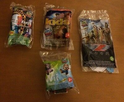 4 Assorted Wendys Toys: Wii, Zoom, Six Flags and National Geographic