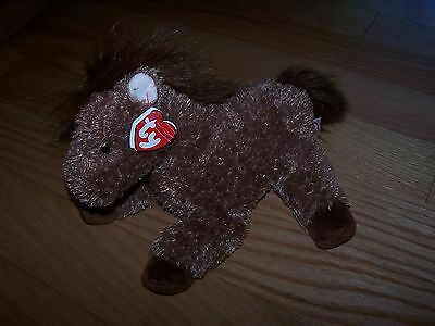 Ty Classic Brown Horse Plush Named Trails