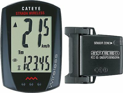 CatEye Strada Wireless Bike Cycling Computer (Black) CC-RD300W
