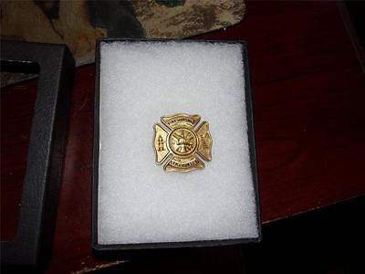 Fire Marshal 5Th District Badge Delaware New Castle   10K Gold Plated Obsolete