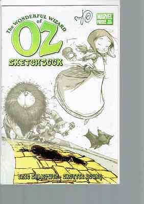 The Wonderful Wizard of Oz Sketchbook signed by Skottie Young