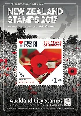 ACS 2017 Colour Catalogue of New Zealand Stamps 1855-2016 - with FREE STAMPS !