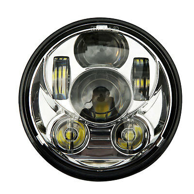 "5.75"" Motorcycle Projector Daymaker Cree LED Light Bulb Headlight for Harley UK"