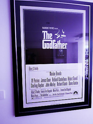 Original 1972 Poster The God Father Linen Backed and Restored