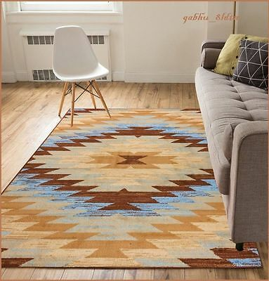... 8 X 10 Western Decor Rugs Southwest Style Living Room Area Rug Native  Brown Blue