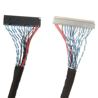 FIX-30Pin 2ch 8bit LVDS Cable for 17inch~26inch LCD Panel 8 Bits 25cm/250mm UK