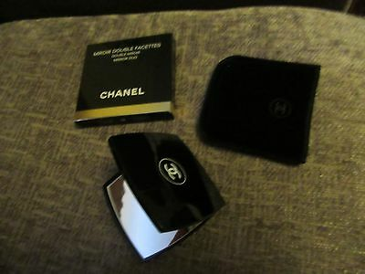 BN boxed Chanel double compact mirror with pouch-great mothers day gift