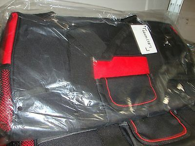 Handy black & red Zipped Tool storage/carry bag-H-300, W-460, D-250mm