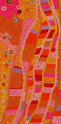 200cm by 100cm, Huge aboriginal painting, aborginal art by Anna Narnina, G013
