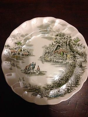 Vintage, Happy England Plate By Johnson Bross.