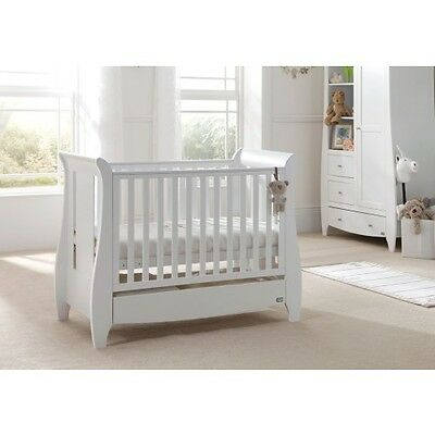 Tutti Bambini - Katie Cot Bed - White in perfect condition with mattress