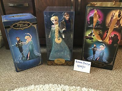 Disney Store Limited Edition Frozen Hans And Elsa Dolls - 1 In 6000