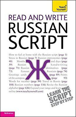 Read and Write Russian Script: Teach Yourself by Daphne West New Paperback Book