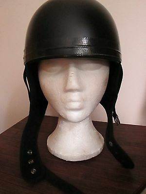 Davida Classic Open Face Novelty Motorcycle Helmet Matt Black Size Medium