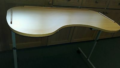overbed curved table