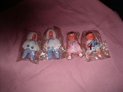 Four Small Collector Dolls House Dolls