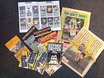 Oxford United football programmes collection WEMBLEY MILK CUP 68-86