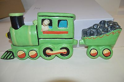 Nursery Wall Mount Ceramic Hand Painted Train Circus 5 pieces