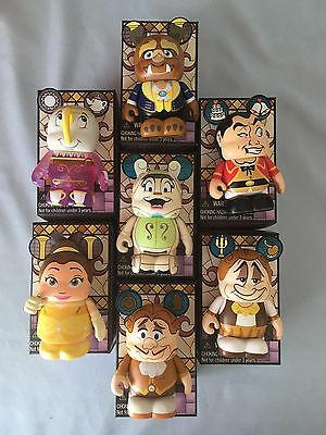 Disney Vinylmation Beauty and the Beast Series 2 Set of 7 Commons with Case Tray