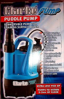 Clarke Puddle Pump With Built In Automatic Float Start