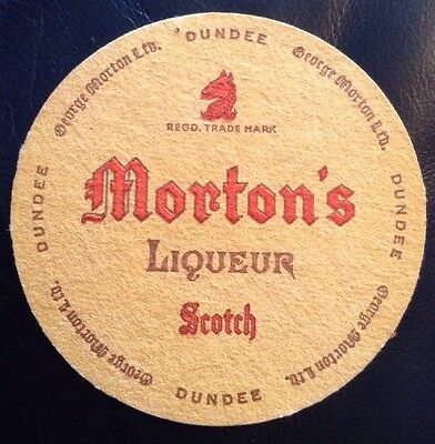 Mortons Liqueur Scotch George Morton Ltd Dundee Old Beer Mat