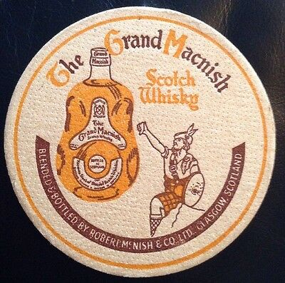 The Grand Macnish Scotch Whisky Glasgow Scotland Old Beer Mat