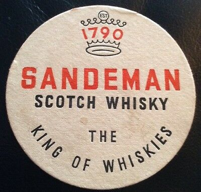 Sandeman Scotch Whisky 1790 The King Of Whiskies Old Beer Mat