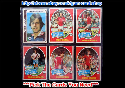 Topps 1979 Scottish Red Back Footballers (F) *Pick The Cards You Need*