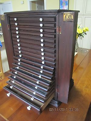 Antique Collectors Dental 18 Drawer Cabinet Country Or General Store Display