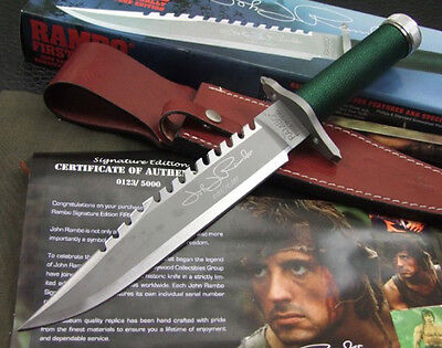 RAMBO I Hand Signed Jagdmesser Hunting Tactical Knife Messer Taschenmesser Bowie