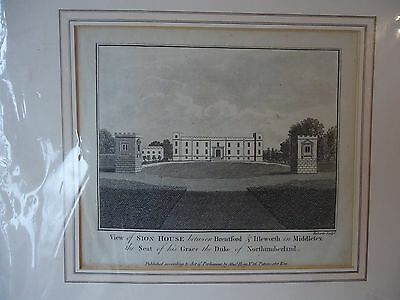 Antique print A view of Sion House 1818 approx