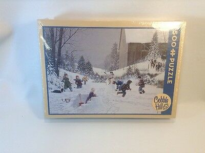 Cobble Hill, Snowball Fight a 500-Piece Jigsaw Puzzle Brand NEW