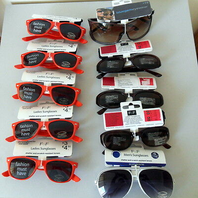 Assorted Sunglasses 10 Pairs New with Tags