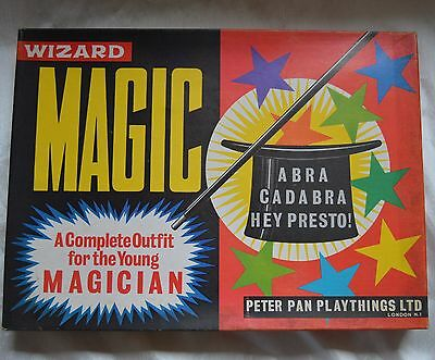 Vintage Peter Pan Wizard Magic Set 1960s Boxed Tricks Instructions Number 6716