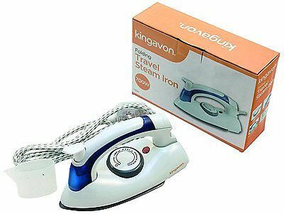 Travel Iron Compact Easy Folding Steam Dry Non Stick Soleplate Iron Portable