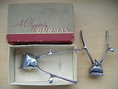 Pair of vintage hair clippers by Burman with original box