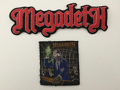 Two Vintage Megadeath Patches - 1 iron-on; 1 sew-on.