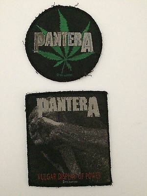 Two Vintage Pantera sew-on patches - date from early 1990's