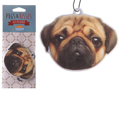 Peach Scented Pug Dog Hanging Air Freshener Fragrance Car Van Home Office AIRF29