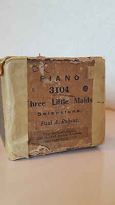 Pianola Roll 3104 THREE LITTLE MAIDS Selections P A Rubens UNIVERSAL MUSIC ROLL
