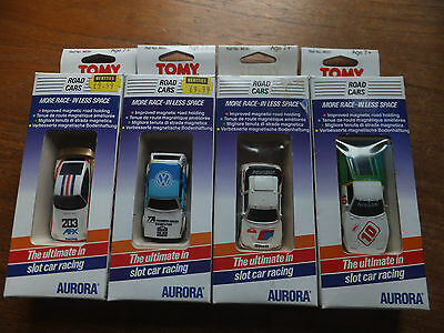 4 BOXED AFX cars, mint and perfect,  ho Tomy Aurora Faller Tomy tyco