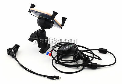 For BMW R1200GS R1200R S1000R S1000XR Navigation Bracket With USB Charge Port