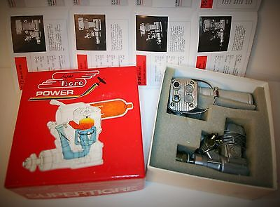 Supertigre Gs40 Ring R/c Model Aeroplane Engine With Silencer, Box & Papers 1994