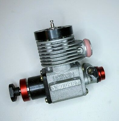 UCTKAM 1.5cc MODEL AIRCRAFT ENGINE WITH TUNED EXHAUST PIPE MADE IN RUSSIA 1990