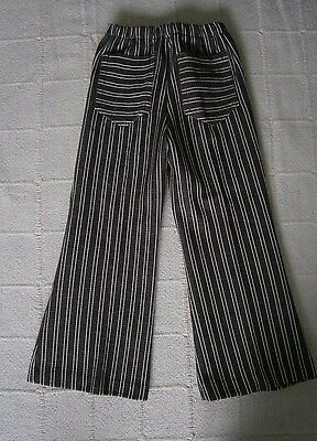 Vintage Stretch Flared Trousers - Age 2-92 cm - Brown & white Stripe- New