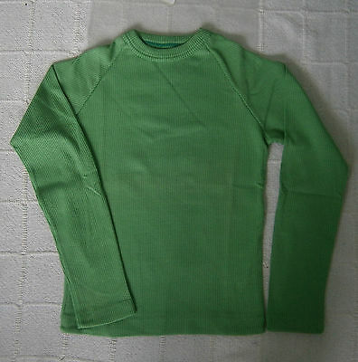 Vintage Stretch Long-sleeved Top - Age 10 - Green - Cotton/Nylon - New