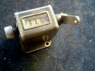 Mechanical Counter antique vintage old scale grain bag measure weight mill flour